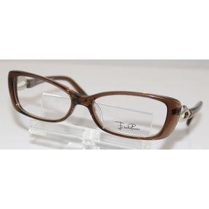 New Ladies Emilio Pucci Brown Eyeglasses